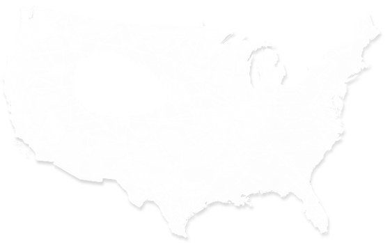 ATM network coverage map of the USA